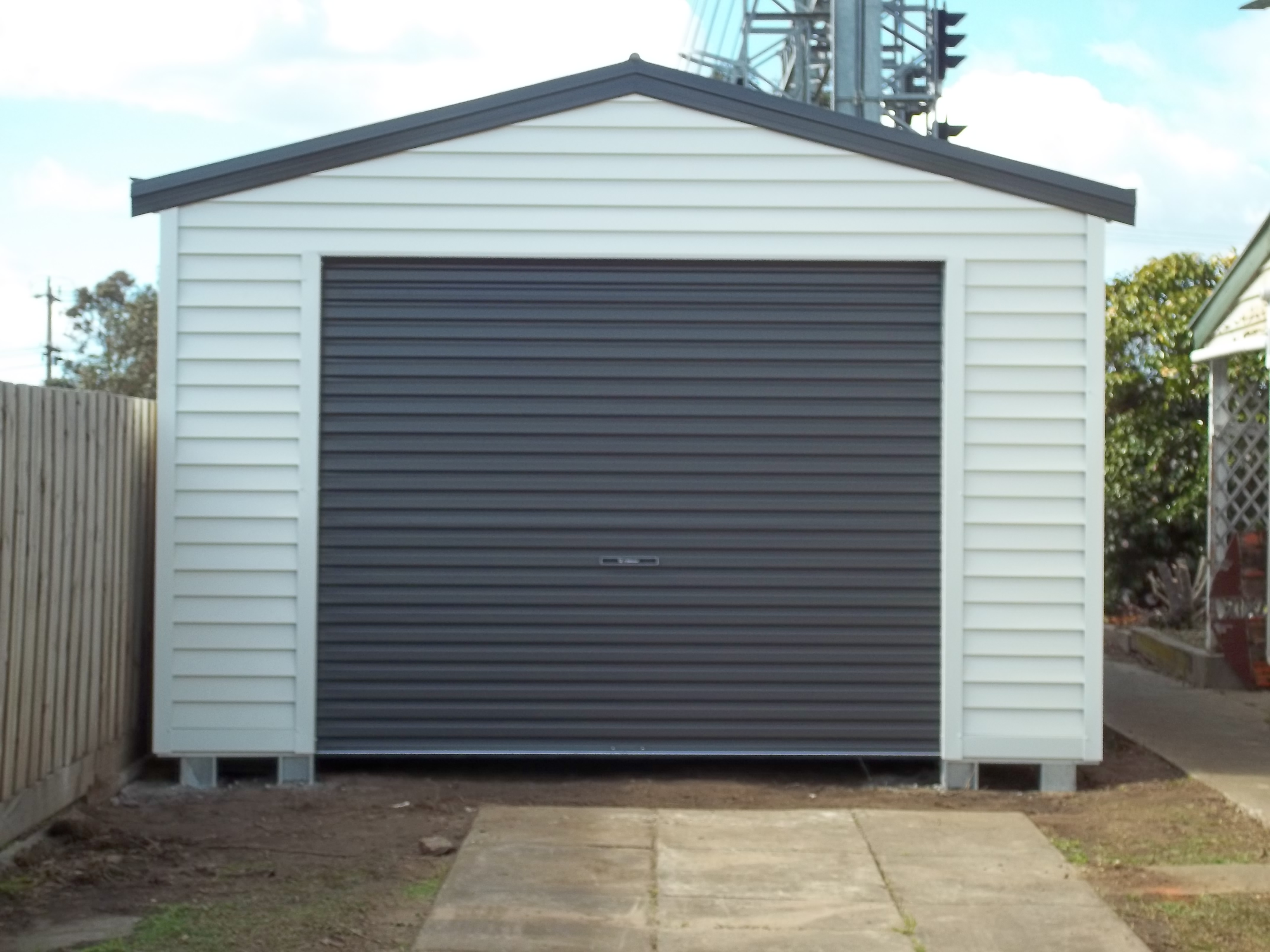 beige steel shed vinyl coated garage p roll storage sheds type up home depot the murryhill cream door ft x arrow metal